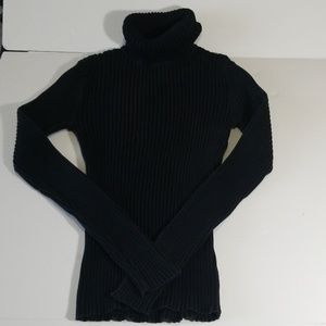 LL Bean Ribbed Knit Slim Fit Turtleneck Sweater